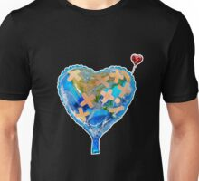 I Love You, Get Well Soon, You Mean The World To Me, Heart, Earth, Street Art Unisex T-Shirt