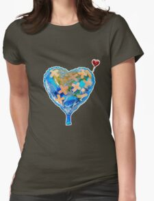I Love You, Get Well Soon, You Mean The World To Me, Heart, Earth, Street Art Womens Fitted T-Shirt