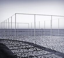 Structure on a beach by Marco Scataglini