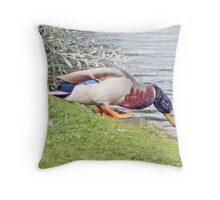 One Small Step For A Duck Throw Pillow