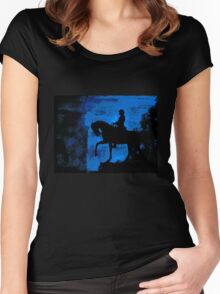 Blue Glow of Hope Women's Fitted Scoop T-Shirt