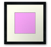 Lavender and White Pastel Star Abstract Pattern Framed Print