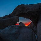 Joshua Tree Sunset Arch Rock by photosbyflood