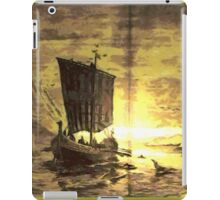 A digital painting of The Discovery of Greenland iPad Case/Skin