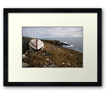 The old boat at Mizen Head Framed Print