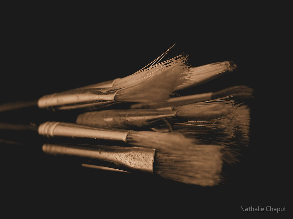 Old Brushes by Nathalie Chaput
