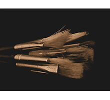 Old Brushes Photographic Print