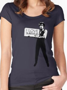 I heart subtitles! Women's Fitted Scoop T-Shirt