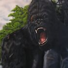 king kong in a bad mood by carss66