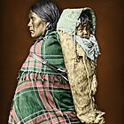 Ute woman and child by Kurt  Tutschek