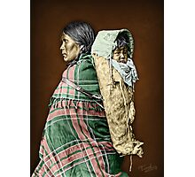 Ute woman and child Photographic Print