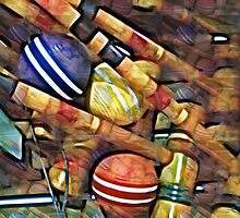 Old Mallets and Wooden Balls by suzannem73