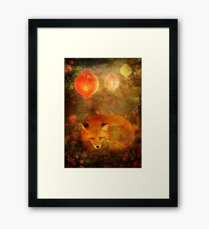 Fox Dreams Framed Print