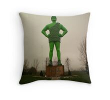 Ho ho ho ~ GREEN Giant! Throw Pillow