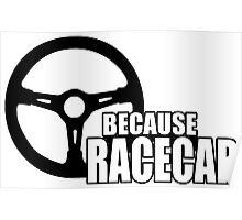 Because Racecar Poster