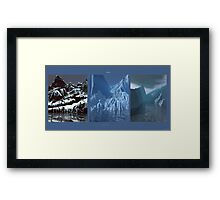Tripytch - Glacier Meltdown Framed Print