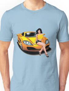 yellow car chicka Unisex T-Shirt