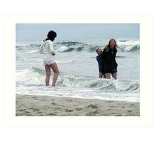 Sea and my family ;-) Art Print