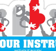 PLAY YOUR INSTRUMENT Sticker