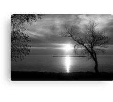 BW Sunset Canvas Print