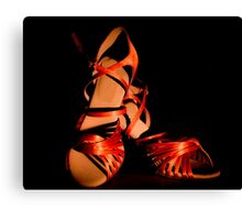 Latin and salsa dance shoes for  Canvas Print