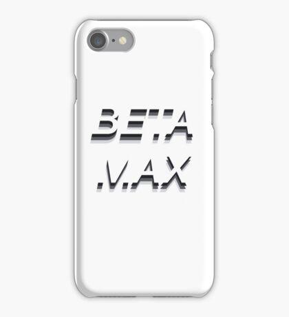 BETAMAX Typographic Design iPhone Case/Skin