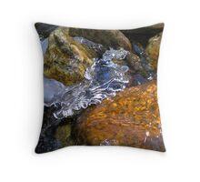 Stone Ice Throw Pillow