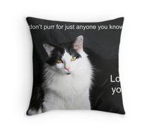 Purr Throw Pillow
