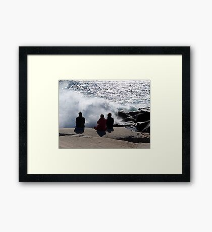 Three with the Ocean Framed Print