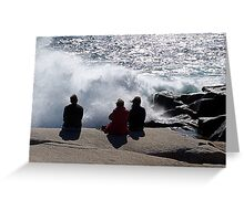 Three with the Ocean Greeting Card