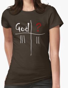 God vs. The Unknown. Womens T-Shirt