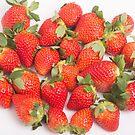 Red Ripe Strawberries by dbvirago