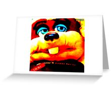 BAGBOY DOG Puppet Oil Painting Greeting Card