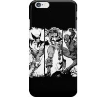 Spiderman Wolverine and Captain America iPhone Case/Skin
