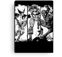 Spiderman Wolverine and Captain America Canvas Print
