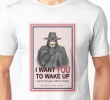 """V For Vendetta """"Wake Up"""" Unisex T-Shirt"""