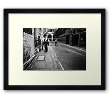 Stop & Search Framed Print