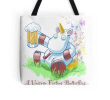 Unicorn Farting Butterflies Tote Bag