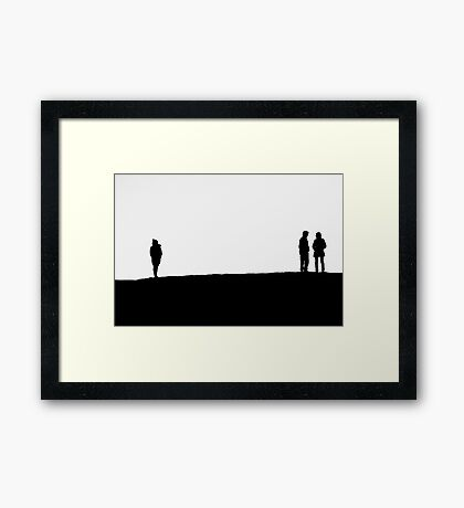 Silhouettes IV Framed Print