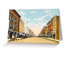 Downtown Ann Arbor, MI Main Street at Liberty, 1910 Greeting Card