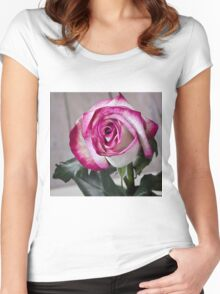 Pink rose 3 Women's Fitted Scoop T-Shirt