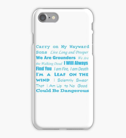 Multi Fandom Anthem iPhone Case/Skin