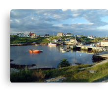 Peggy's Cove evening Canvas Print