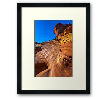 Water Carved - Valley of Fire Framed Print