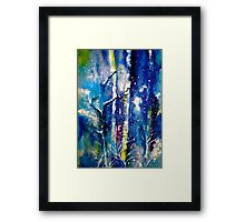 Winter..The Trees...Grateful Framed Print