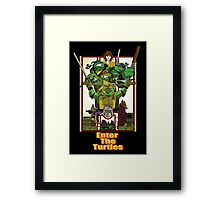 Enter the Turtles Framed Print