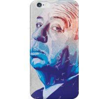 Alfred Hitchcock Blue Portrait iPhone Case/Skin