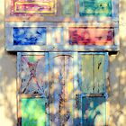 Door in colored shadow by Eilat Jelin