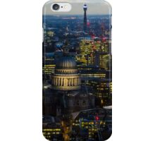 London, St Paul Cathedral and skyline at night iPhone Case/Skin