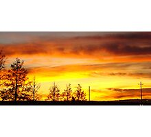 Fire In The Desert Sky Photographic Print